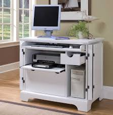 awesome small white computer desk with slider keyboard shelf