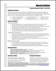 Examples Of Administrative Assistant Resumes Resume Samples For All Professions And Levels