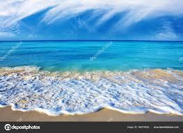 美しいカリブ海の海と青い空 背景として夏の海の風景 ストック写真