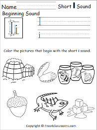 Cvc words phonics worksheets and teaching resources. Free Beginning Sounds Worksheet Short I Free4classrooms