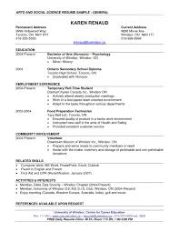 Science Resume Format Example Resume Of Computer Science Student