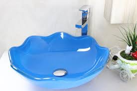 blue lotus shaped glass bowl tempered glass vessel sink with hot and faucet set n 222 uk 2019 from victoryglasssink gbp 50 41 dhgate uk