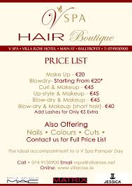full hair make up and nail boutique list wedding
