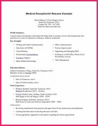 Resume Examples For Receptionist Medical Secretary Resume Sample Hospital Receptionist You Have To 76