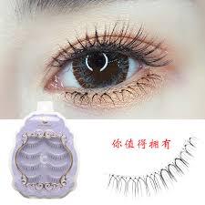 icycheer 4 pairs natural anese false eyelashes soft lightweight makeup eye lashes