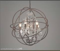 brushed nickel crystal orb 6 light chandelier free with intended for orb chandeliers