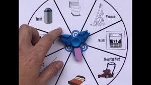 Spinner Chart Fidget Spinner Chore Chart Printable Included