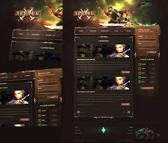 Video Website Template Amazing Dark Forest Game Website Template