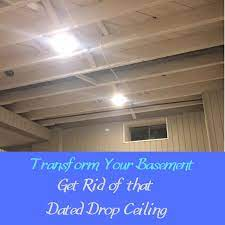basement ceiling revamp remove your