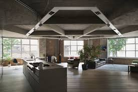 the lighting loft. Stunning Concrete Ceiling Coupled With Track Lighting For The Ope Living Loft