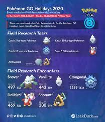 Pokémon GO Holidays 2020 - Leek Duck | Pokémon GO News and Resources