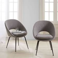 1 desk chair with black legs and a grey fabric upholstered seat