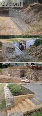 Gabion wall used as privacy wall & contemporary gate | Landscapes |  Pinterest | Gabion wall, Gate and Contemporary