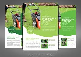 garden service flyer psd template flyer templates on creative market