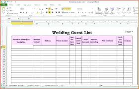 Excel Guest List Wedding Guest List Template Invite For Excel 2013 Mediaschool Info