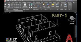 create 3d house using autocad in easy