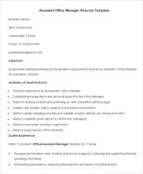 Office Template Resume Assistant Office Manager Resume Template Free