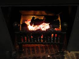 diy fake fireplace logs with lights
