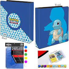 Buy Totem World Squirtle 2 3-Ring Collectors Binder Album with 25 9-Pocket  Pages and 1 Mini Album - Perfect for Holding up to 450+ Pokemon Cards  Online in Turkey. B08469CFP1
