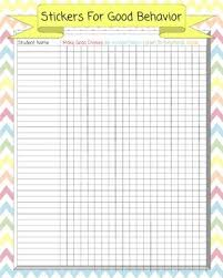 Chevron Behavior Chart Poster Sticker Rewards For Whole Class