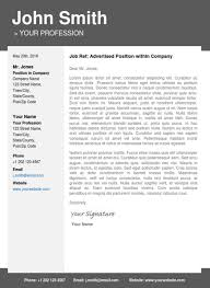 Reference Templates Modern Cover Letter Template Advertising