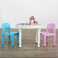 tot tutors bright colors 2 in 1 plastic lego compatible kids activity table