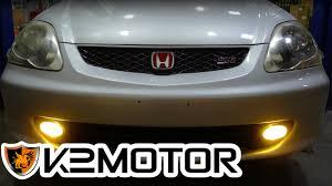 How To Install Fog Lights On Honda Civic 2005 K2 Motor Installation Video 2002 2005 Honda Civic Si Hatchback Fog Lights