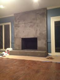 interior concrete fireplace hearth ideas likable diy for less than cast cleaning build paint concrete