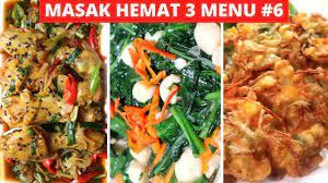 Download free resep masakan sehari hari 3.1 for your android phone or tablet, file size: Masak Hemat 3 Menu Part 6 Resep Masakan Indonesia Sehari Hari Sederhana Dan Praktis Youtube