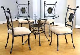 small glass top dining table wrought iron glass table outstanding dining room decoration with round glass