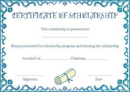 Scholarship Certificate Template Scholarship Certificate Template Certificate Templates