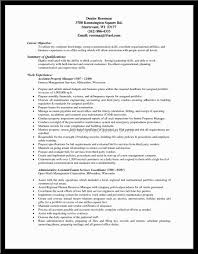 Resume Sample Property Manager Resume