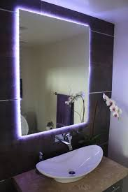 bathroom mirror with lighting. Creative Lighting With Led Light Strips Changing Trace The Lights Behind Bathroom Mirror Modern W