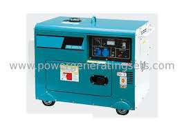 Single phase electric portable diesel generator set 220v 5kva For Home