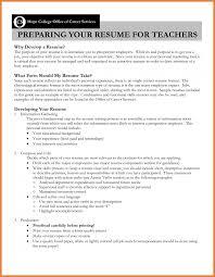 Teacher Resume Objective Sop Proposal Esl Cover Letter Sample No