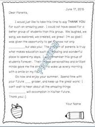 End Of School Year Thank You Letter To Parents Editable Recently