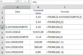 How To Use Excesl Trunc Function