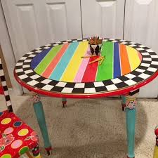 Image Children Image Painting Ideas For Kids For Livings Room Canvas For Bedrooms For Kids Play Table Whimsical Painted Kids Furniture Kids Etsy