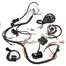 gy6 wiring harness automotive parts online com minireen complete wiring harness kit wire loom electrics stator coil cdi for 150cc 200cc 250cc 300cc