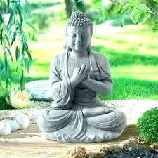 bouddha exterieur maison du monde sculpture exte statue pour zen