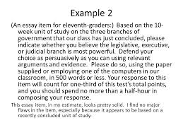 constructed response examples example a short answer item for  example 2 an essay item for eleventh graders based on the 10