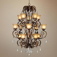 valentina iron leaf collection three tiered chandelier kathy ireland chandelier pacific coast lighting