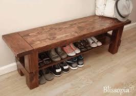 furnitureentryway bench shoe storage ideas. solid wood storage bench shoe entryway by blissopia furnitureentryway ideas