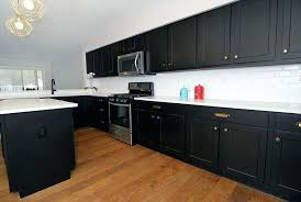 dark kitchen cabinets with light quartz countertops black white island grey walls would a small look