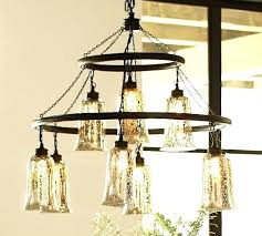 wonderful pottery barn chandeliers antique mercury glass chandelier pottery barn clarissa rectangular chandelier installation