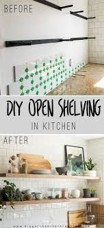 How To Make Floating Shelves Strong Magnificent DIY Open Shelving Kitchen Guide Bigger Than The Three Of Us