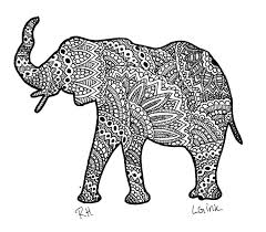Elephants Coloring Pages For Adults To Print Free Sheets Elephant