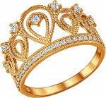 «<b>SOKOLOV</b> Серебряное <b>позолоченное кольцо</b> в форме <b>короны</b> ...
