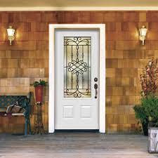 JELDWEN  In X  In  Lite Sanibel Primed Steel - Iron exterior door