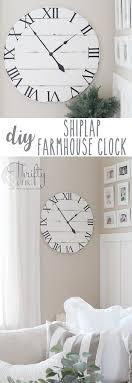 diy shiplap wall clock tutorial diy wood clock tutorial diy farmhouse style clock